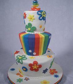 The Rainbow Pride Cake Comes into the Sun