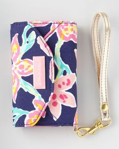 """Ring Me Up"" iPhone Wristlet by Lilly Pulitzer at Horchow."