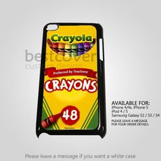 AJ 2785 Crayola Crayons Pattern for iPod 5 Case Ipod 4 Cases, Ipod 5, Tablet Cases, Galaxy S2, Samsung Galaxy, Crayons, Iphone 4, Crayon Ideas, Messages