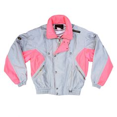 Dope 80s Metallic Neon Descente Ski Jacket ($120) ❤ liked on Polyvore featuring outerwear, jackets, tops, coats, galaxy print jacket, neon jacket, 1980s leather jacket, 80s ski jacket and ski jackets