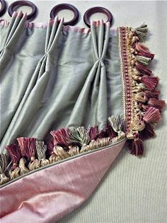 This week has been busy with a job that is almost ready to be photographed. There are several components, one of which is Portiere drapery . Modern Curtains, Drapes Curtains, Unique Curtains, Curtains Living, Home Bedroom Design, Drapery Styles, Curtain Headings, Boho Beautiful, Custom Drapes