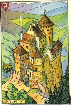 Wangenbourg Alsace Château du Freudeneck Hansi