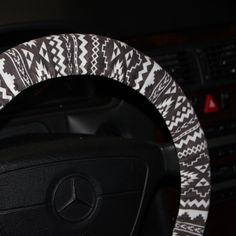 Tribal Wheel Cover - Aztec Steering Wheel Cover - Women's Wheel Cover - Car Accessories .Gray and White tribal wheel cover-Black and white . by SouthernA on Etsy https://www.etsy.com/listing/243899741/tribal-wheel-cover-aztec-steering-wheel