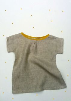 TreeFall Design - linen shirt with bias trim