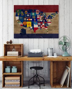 U.S.A. USA United States Map Canvas Art @ http://artzeedesigns.com/products/canvas-art-abstract-art-u-s-a-usa-united-states-map.html