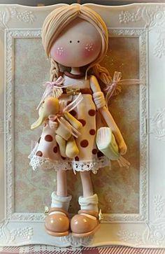 Cuadro de muñeca en porcelana