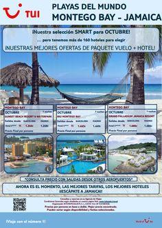 Te esperamos este mes de #Octubre en #Jamaica con nuestras #ofertas #smart de vuelo y hotel