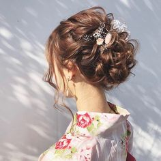 Witch Cake, Hair Arrange, Fries, Yukata, Kimono Fashion, Hair Inspo, Hair Goals, My Hair, Most Beautiful