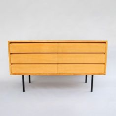 kurt thut for thut mobel chest of drawers beech and enameled metal switzerland