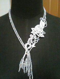 collana macramè per una sposa