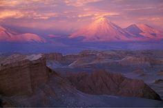 Sunset at Valle de Luna, San Pedro de Atacama