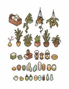 Trendy Plants Png Ideas Ideas Plants Anime Pixel Art Pixel Art