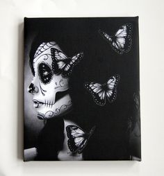 8x10 in Stretched Canvas Print  Flutter By  Dia De by NeverDieArt, $20.00