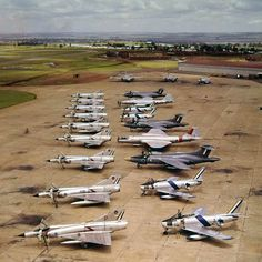 Aircraft of the South African Air force - early 10 x Mirage IIICZ, 4 x Sabre, 3 x Javelin 3 x Canberra 1 x Canberra Military Jets, Military Aircraft, Fighter Aircraft, Fighter Jets, Drones, South African Air Force, Army Vehicles, War Machine, Airplanes