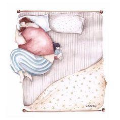 Ilustrações de Snezhana Soosh trazem amor entre pai e filha;