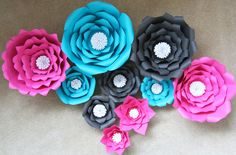 Paper Flower, Wall Display, Bridal Shower, Baby Shower, Nursery, Baptism, Office Decor, Photo Booth, Backdrop, Prop