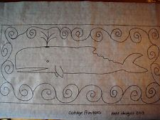 free rug hooking patterns whale - Google Search