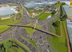Turbo roundabout with cycle overpass, Naaldwijk, NL. Click image for link to full profile and visit the slowottawa.ca boards >> http://www.pinterest.com/slowottawa/