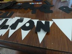 banner letters: art skills quick letter pads  Show Some Decor... at Home with Heidi: Graduation Party Decorations {and a Pity Party}