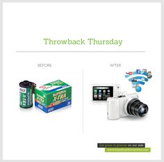 Who knew cameras won't just be for taking pictures anymore?  #throwback  www.bluethumbcreatives.com   #tbt #throwbackthursday #photography #cameras #idea