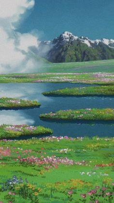Art Studio Ghibli, Studio Ghibli Movies, Aesthetic Art, Aesthetic Pictures, Aesthetic Anime, Aesthetic Backgrounds, Aesthetic Wallpapers, Animes Wallpapers, Cute Wallpapers