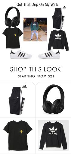"""""""Kodie Shane #1"""" by sexymyk ❤ liked on Polyvore featuring adidas, Beats by Dr. Dre, HUF and adidas Originals"""