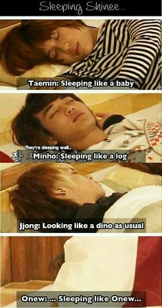 When SHINee sleep