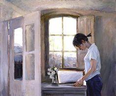 Chen Bolan   Chen Bolan, Chen (1955-...) Chicaleyendo junto a una ventana
