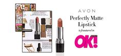 Avon Perfectly Matte Lipstick is an @OK_Magazine editor pick for a high-fashion finish! #AvonRep