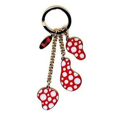 New! Yayoi Kusama Key Ring Dots Obsession Japan Artist Pumpkin Authentic Red…