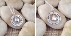Teacher Appreciation Gift – Teach Love Inspire or Live Love Teach Necklace with Charm