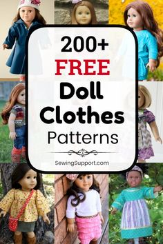 200+ Free Doll Clothes Patterns