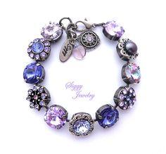 Swarovski Crystal Bracelet 12mm Rivoli Purple Violet Lilac