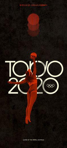 """Tokyo 2020"" retro Olympics by Steve Marchal, via Behance"