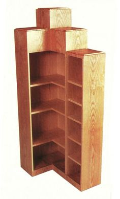 Art+Deco+Furniture | Art Deco Stepped corner bookcase furniture