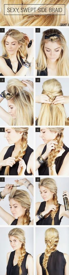 Sexy , Swept Side Braid Tutorials