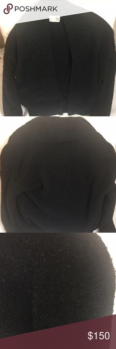 TSE Classic Cashmere Sweater, Beaded Black Black embellished with neckline beading super soft Cashmere, relaxed fit, long sleeves. 100% Cashmere. Worn once. TSE Sweaters Cardigans
