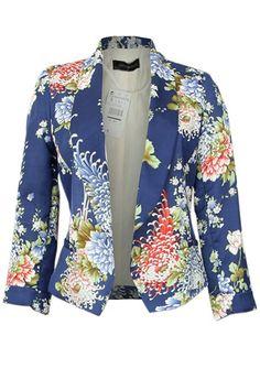 Stylish Chrysanthemum Pattern Suit persunmall.com