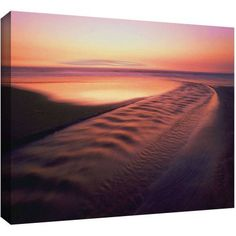 Dean Uhlinger Back To The Sea Gallery-Wrapped Canvas, Size: 14 x 18, Orange