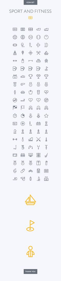 Sport and fitness icon set on Behance
