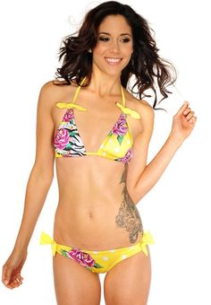 cheap Flower Bikini Set wholesaleitonline.com $16.67- For more amazing finds and inspiration visit us at http://www.brides-book.com