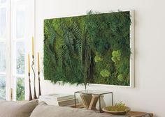 Grow Vertical! Wall Gardens Make Great Living Art --> http://www.hgtvgardens.com/decorating/living-walls-make-gardening-evergreen?s=7&soc=pinterest