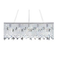 Modern Chrome Crystal Suspension Linear Chandelier | Overstock™ Shopping - Great Deals on Chandeliers & Pendants $299