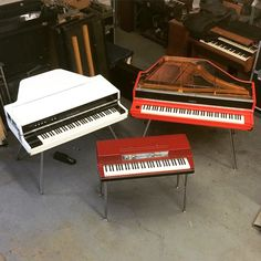 3 Vintage beauties. Yamaha Cp70B, CP80M, and Wurlitzer red top.