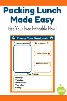 Meal prep for lunch #sponsored - Preparing lunches for the week just got easier.  This free printable form is a guide parents can use to help their children choose healthy school lunches.  Parents fill out the form based on foods on hand, children choose what goes into their lunchbox choosing from each category.  Meal prep for the week done in a stress-free, easy to complete form. #produceforkids via @http://www.pinterest.com/createkidsclub