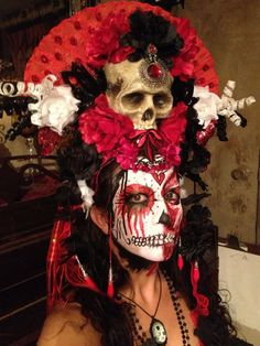 Los Muertos Sugar Skull Day of the Dead Headdress by Sarieka, $195.00
