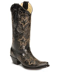 Reminds me of starfish.  Corral Tan Star Embroidered Cowgirl Boots - Snip Toe