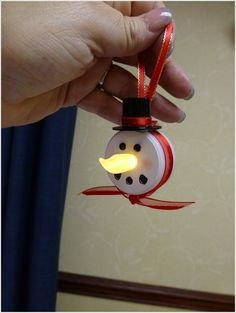 Battery Tea Light Snowman Christmas Ornaments Decorations Ideas
