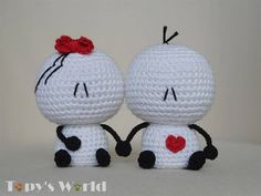 Bigli Migli - listen to your heart Migli - English .PDF crochet pattern ! This is a crochet pattern, NOT a finished item !  This is an original crochet (amigurumi) pattern by Marina Bellai of Topy's World. It was made with Sepideh Davoudi's permission, who is the creator of the Bigli