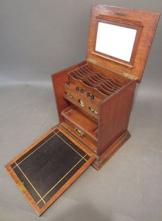 Small Victorian Drop Down Traveling Writing Desk